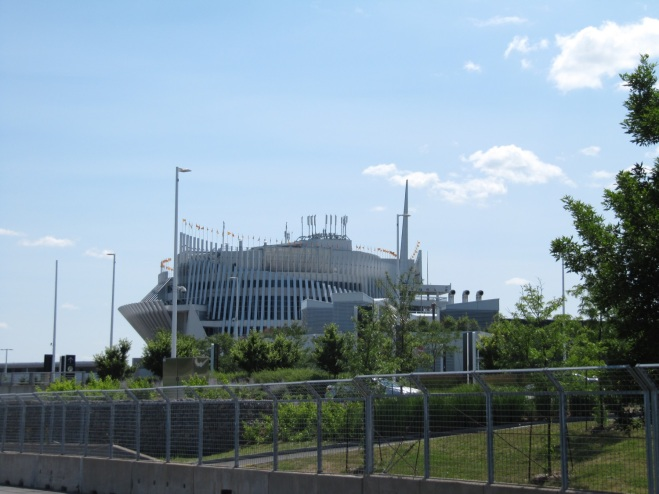 World-famous Montreal casino seen from the racetrack