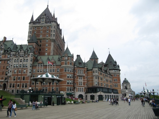 The world-famous Chateau Frontenac