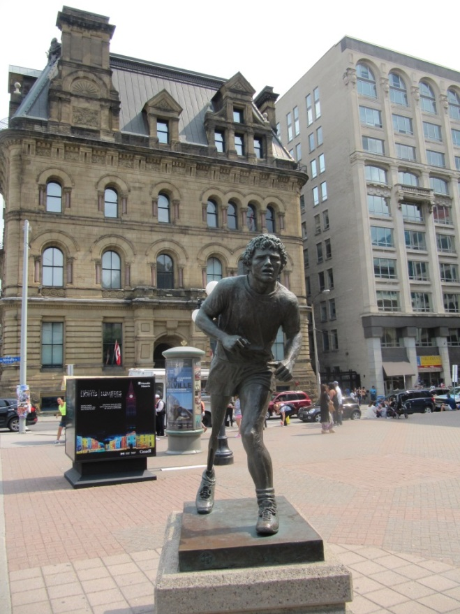 A monument to Terry Fox in the heart of Ottawa. If you don't know the details, I hight recommend reading wikipedia article about him.