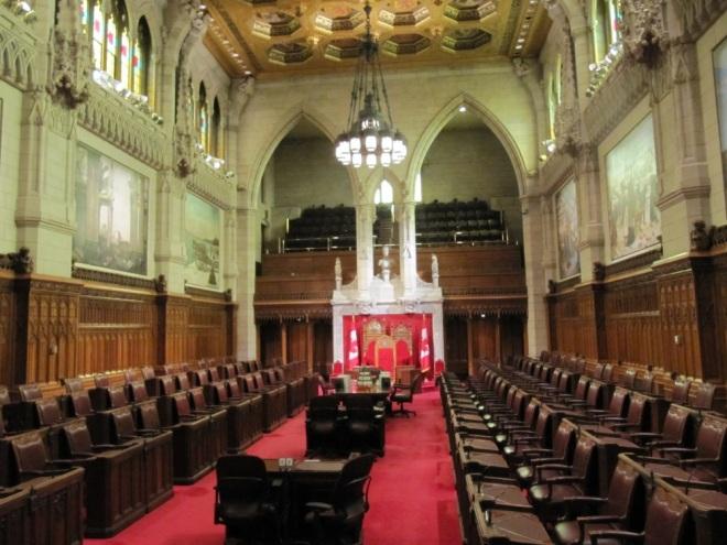 A room of debates of senate