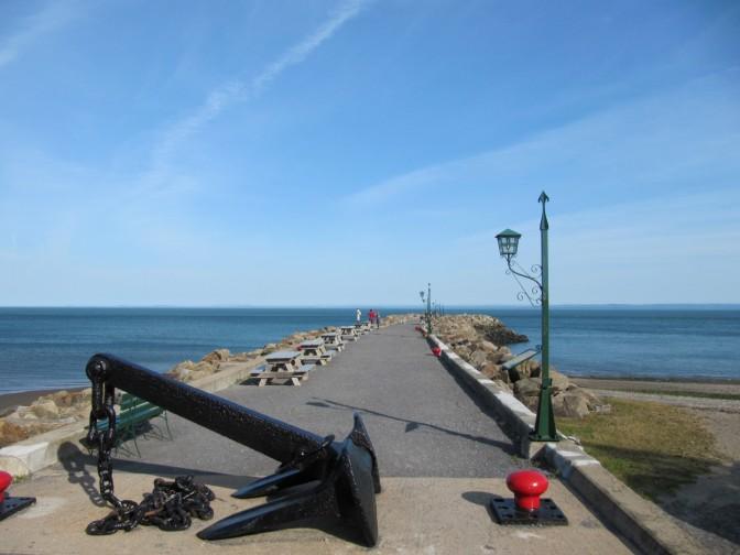 Pier at Saint-Irénée.