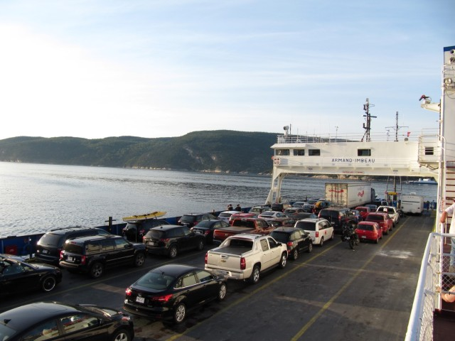 Crossing Saguenay river on a ferry