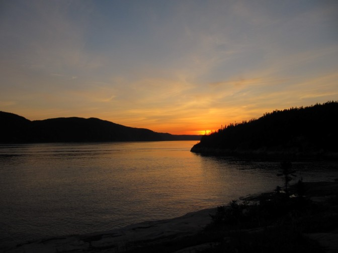 Sunset over Saguenay