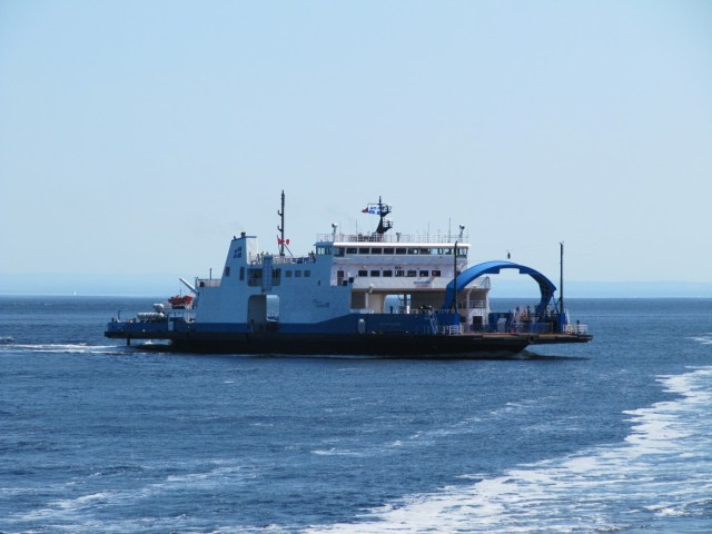 Ferry that carries vehicles across Saguenay river