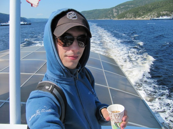 That's what I looked like on a boat. It was extremely cold!