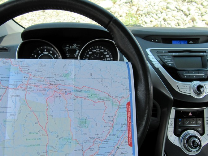 Old-school navigation with a map