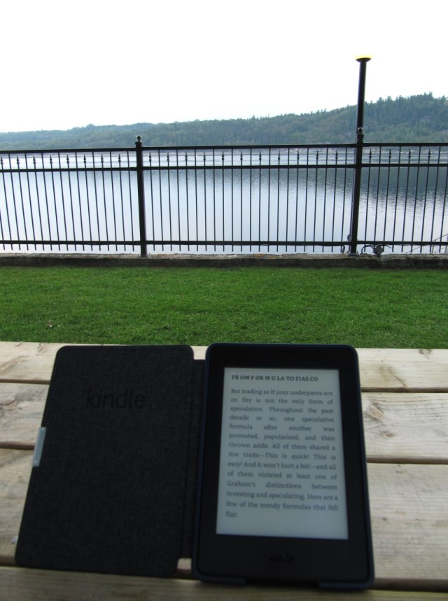 What a beautiful evening - a nice book and nice scenery around