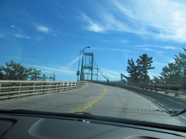 First section of 1000 islands bridge