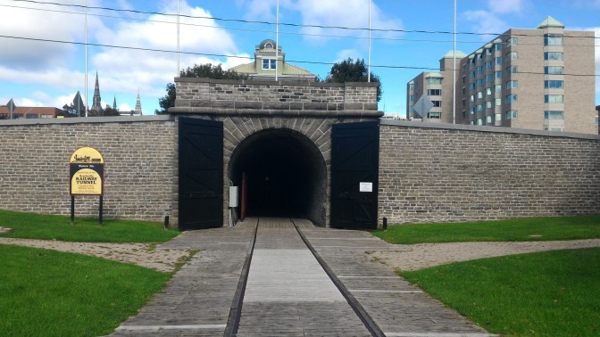 Canada's first railroad tunnel