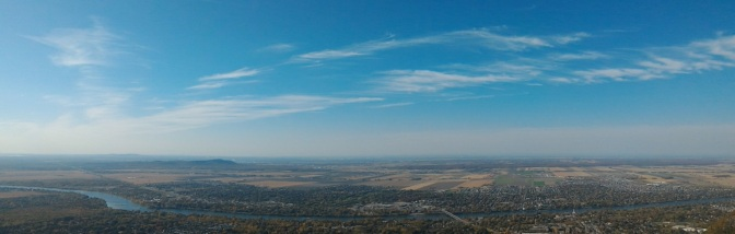 Aerial view from the top of Mont Saint Hilaire