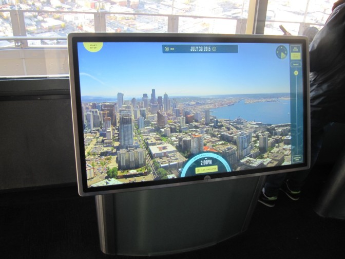 Screens inside the tower offer panoramic photos and time-lapse videos from outside cameras