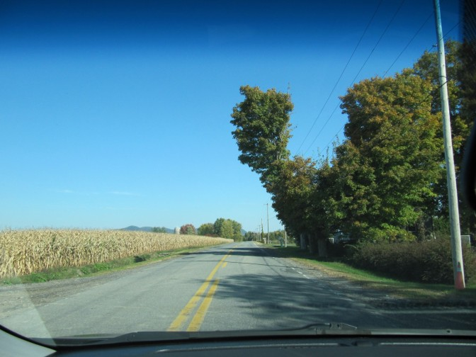 The navigation plotted a route through rural Quebec and country roads.  In my opinion it is better for short weekend trip then boring highways