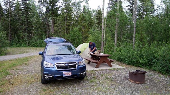 Camping with Subaru