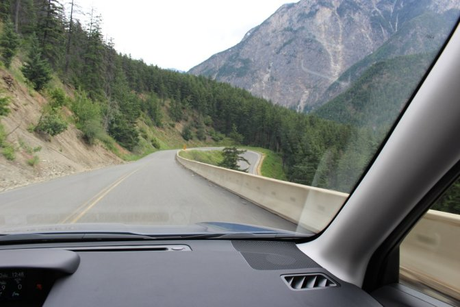 Sharp road bend